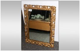 Small Gilt Framed Mirror In The Rococo Style 16x20''