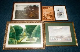 Collection Of 7 Framed Pictures Together With A Collection Of Loose Amateur Paintings Of Horses