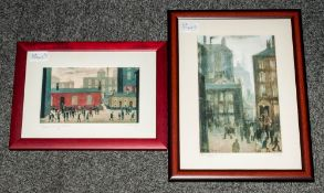 Two Small Contemporary Modern Edition Prints 'The Lodging House' and 'Coming out of School'.