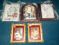 A Collection Of 7 Framed Pictures