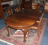 Victorian Mahogany Dining Suite comprising extending table with winder. Together with 5 dining