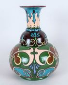 Shelley Late Foley Intarsio Pattern, Bottle Shaped Vase. Shape Number 577 and 3629. c.1910-1912.