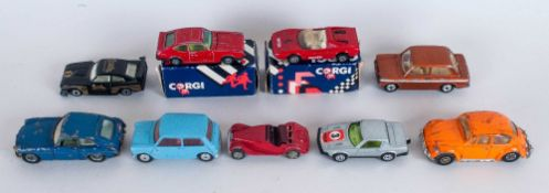 Corgi Mixed Lot Of 9 Loose Cars
