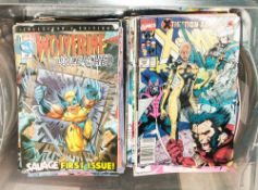 Box Containing A Quantity Of Mostly Marvel Comic Books