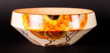 Clarice Cliff Hand Painted Art Deco Bowl ' Rhodanthe ' Design. c.1934. Bizarre Range. 3 Inches