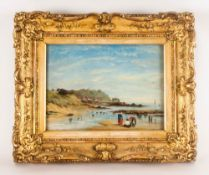 Anna Pratt 1806-1893 Signed & Dated 1861. 'Cockle Gathers' On The English Coast in the mid 19th