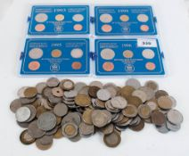 4 Sets Of Coins Comprising Coins Of Sweden 1993 - 1996 Together With A Mixed Bag Of Loose Swedish