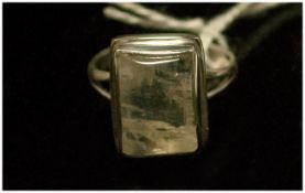 Rainbow Moonstone Hand Crafted Ring, 9.7cts of moonstone showing a generous display of blue