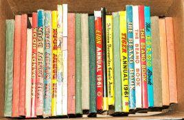 1 Box Of Books including annuals etc...