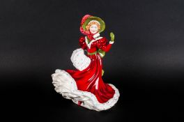 Royal Doulton Pretty Ladies Figurine ' Christmas Day 2010 ' HN5411. Mint Condition. Height 7.25