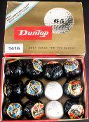 Dunlop 65 Golf Balls Set Of 12 In Original Box, 10 Still Wrapped