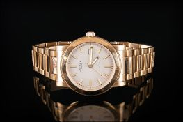 Rotary - Kensington Classic Gold Plated Date-Just on Stainless Steel Gents Wrist Watch. Dolphin