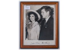 Signed Photographic Print - The Kennedy's. Size 7 x 9 Inches.