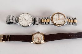 3 Watches Comprising Seiko Automatic, Imado Automatic And A Favre Leuba Geneve Manual Watch.