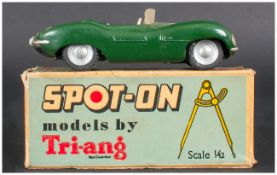 Spot-On By Tri-ang Number 107, Jaguar ''XK SS'', Dark Green Body, Complete With Blue Box,