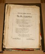 Collection of Old Sheet Music comprising classical, 1920/1930's music etc