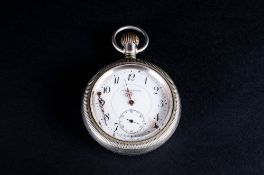 Boston Watch & Co Quality Large Lever Set - Open Faced Pocket Watch. The Back Screw on Cover with