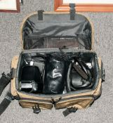 Collection Of Camera Equipment Including Olmpus Omin SLR, Olympus OM2N SLR, Olympus Om1O, Olympus