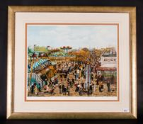 Tom Dodson Limited & Numbered Edition Artists Signed In Pencil Colour Print, Title 'Fairground'