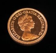 Queen Elizabeth II - Proof Full 22ct Gold Sovereign. Dated 1980. Uncirculated / Mint Condition.