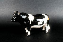 Beswick Animal Figure ' Friesian Bull CH ' Coddington Hilt Bar. Model Num.1439A. Designer A.