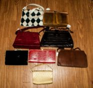 Collection Of Eight Handbags, some leather, various sizes & styles