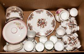 Mixed Lot Of Part Tea Sets, Comprising Royal Albert, Wedgwood, Colcolough etc