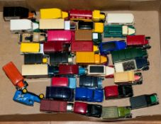 Collection of 36 Assorted Toys, Vans Including Kellogs Van, Cadburys Roses, Royal Mail, Mars, Beef