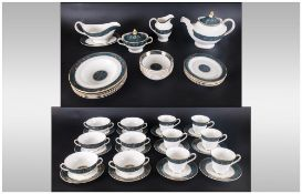 Royal Doulton Top Quality 63 Piece Dinner And Tea Service, 'Carlyle' Pattern, H5018. All pieces