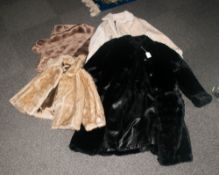 Collection Of Various Faux Fur Coats & Stole