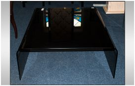 Modern Black Glass Centre Table, 39 Inches², 16 Inches High