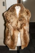 Ladies Fox Fur Gillet, fully lined with slit pockets