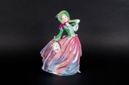 Royal Doulton Figurine ' Autumn Breezes ' Green and Pink Colour way. HN1911. Style One. Issued