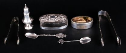 A Small Collection of Antique Silver and Silver Plated Items, 5 Items Silver and 2 Items Silver