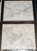 Folder Containing 9 Maps, The World Sheet 1 Drawn By Rev Philip Smith, Province Of Canada By W &