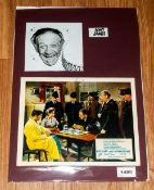Sid James 'Carry On' Autograph On 10x8 Colur Photo Circa 1950's. Early Signature