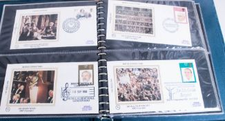 Two Boxed Benham Silk Cover Albums With Covers From 1980-1982