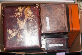 Mixed Boxed Of Wooden And Tin Boxes, Mostly For Repair, Some Victorian