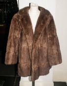 Ladies Pale Brown Musquash Jacket