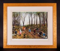 Tom Dodson Limited & Numbered Edition Artists Signed In Pencil Colour Print, Title 'Nature Walk'