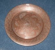 Large Copper Charger.