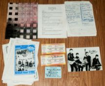 The Beatles Related Autographs & Tickets etc, signed items Cynthia Lennon & Pete Best.