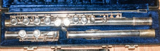 Gemeinhardt Flute In Hard Case, #A24273. with cleaning rod.