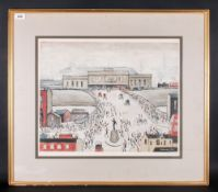 L. S. Lowery 1887 - 1976 Artist Signed In Pencil - Ltd Edition Colour Print. Titled ' Station