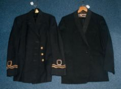 Military Interest Early/Mid 20thC Navy Uniform Jacket Together With Dinner Suit, Labelled J & J