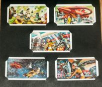 Dr Who & The Daleks Full Set Of 50 Cadet Sweet Cards Circa 1960's in card album