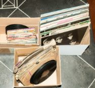 1 Box Of LP (Vinyl) Assorted Records including an assorted box of 45 RPM & a box of assorted 1930'