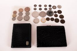 Small Mixed Lot Of Low Value Coins Together With a Mappin & Webb Wallet And Note Pad.