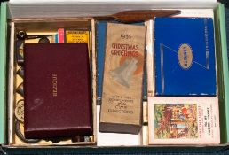 Mixed Boxed Of Collectables To Include Boxed Playing Cards, 1935 Christmas CWS Directors Shoe Brush,