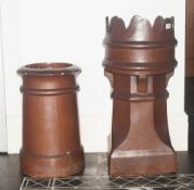 Two Large Stone Chimney Pots Ideal As a Garden Planters